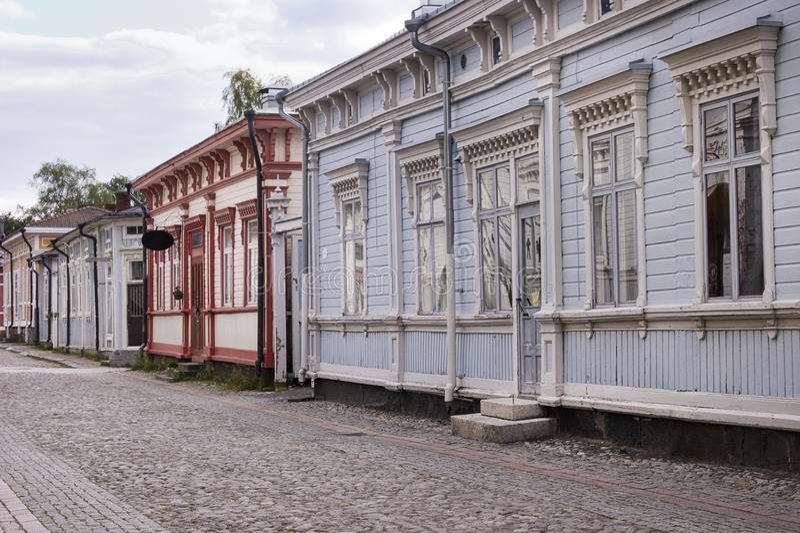Ξύλινη κατοικία - περιοχή παγκόσμιων κληρονομιών της ΟΥΝΕΣΚΟ στοκ εικόνες με δικαίωμα ελεύθερης χρήσης