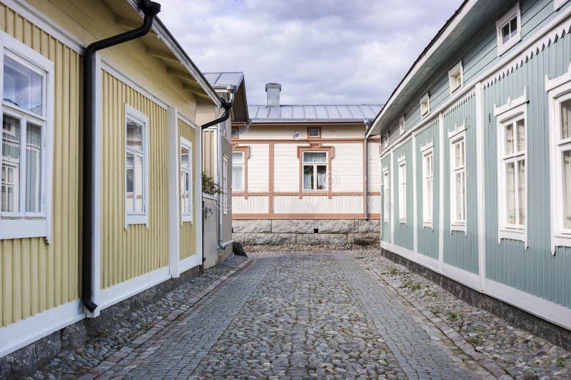 Ξύλινη κατοικία - περιοχή παγκόσμιων κληρονομιών της ΟΥΝΕΣΚΟ στοκ εικόνες