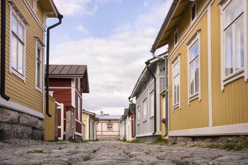 Ξύλινη κατοικία - περιοχή παγκόσμιων κληρονομιών της ΟΥΝΕΣΚΟ στοκ φωτογραφία με δικαίωμα ελεύθερης χρήσης