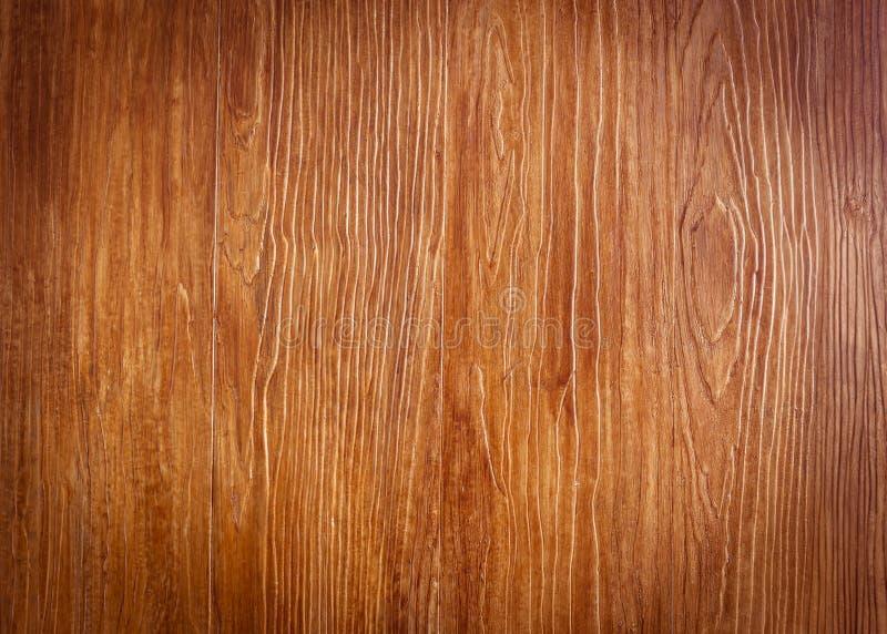 Ξύλινη καφετιά σύσταση σιταριού, τοπ άποψη του ξύλινου πίνακα στοκ εικόνα με δικαίωμα ελεύθερης χρήσης