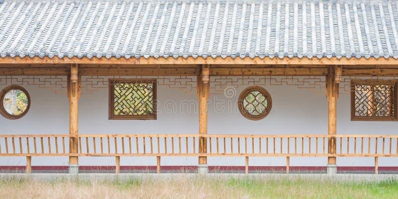 Ξύλινη κινεζική αρχιτεκτονική στοκ φωτογραφία