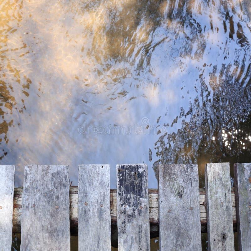 Ξύλινη σανίδα γεφυρών στοκ φωτογραφία