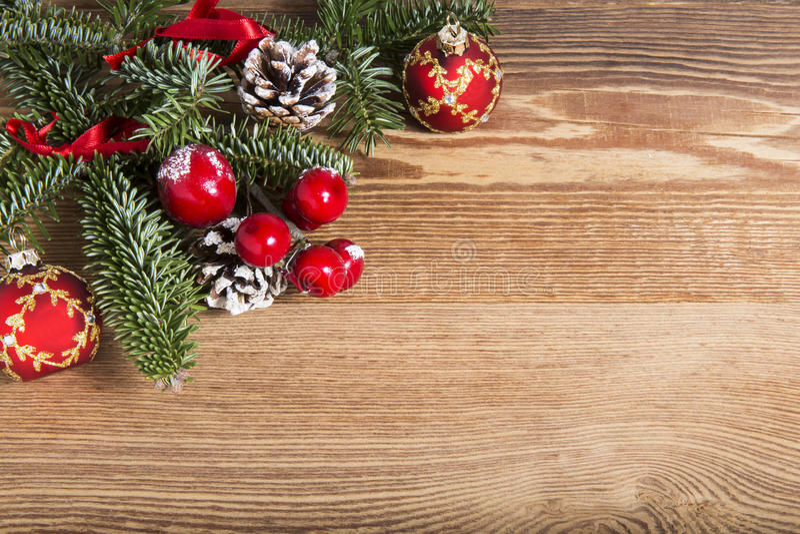 Ξύλινη σανίδα Χριστουγέννων στοκ φωτογραφία