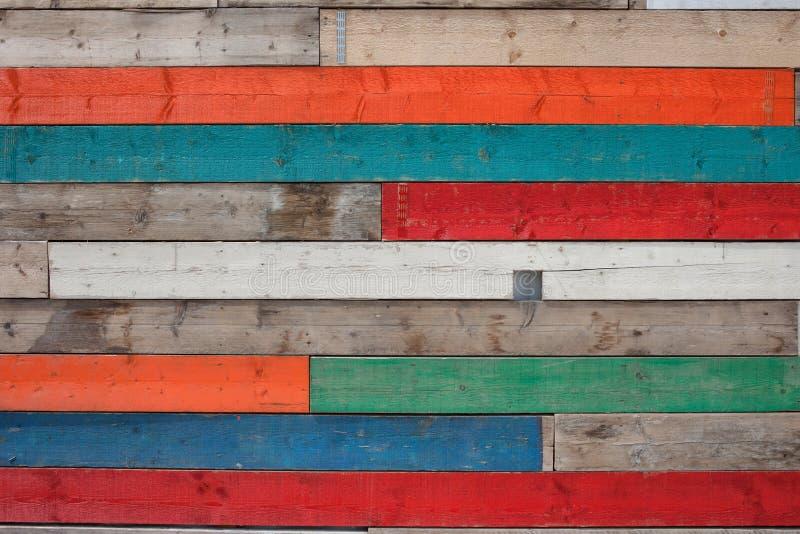 Ξύλινη σύσταση σανίδων στα διαφορετικά χρώματα στοκ εικόνες