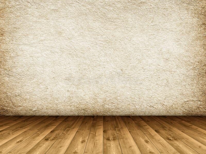 Ξύλινοι πάτωμα και grunge τοίχος στοκ εικόνες