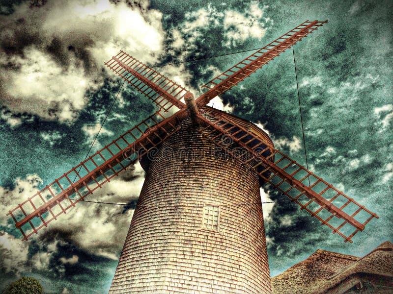 Ξύλινος ανεμόμυλος στοκ εικόνα με δικαίωμα ελεύθερης χρήσης