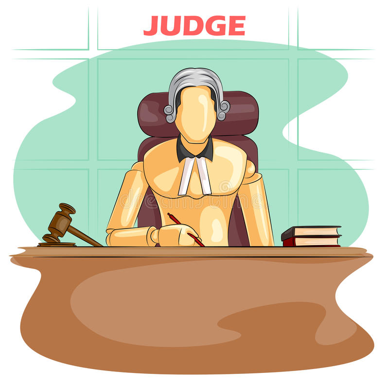 Ξύλινος ανθρώπινος δικαστής μανεκέν ελεύθερη απεικόνιση δικαιώματος