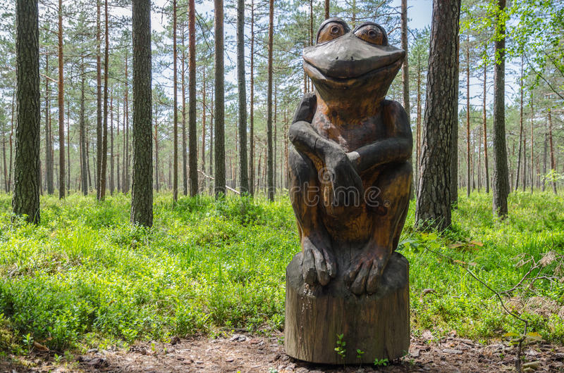 Ξύλινος βάτραχος στοκ φωτογραφία με δικαίωμα ελεύθερης χρήσης