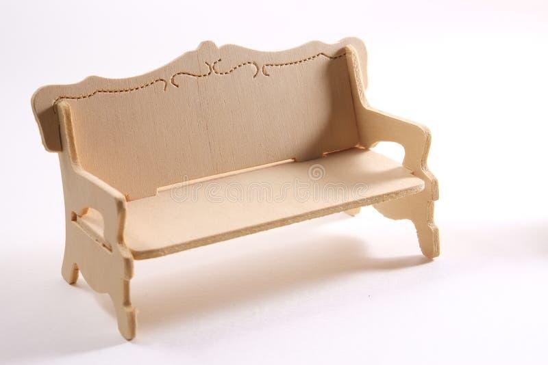 Ξύλινος καναπές στοκ εικόνα με δικαίωμα ελεύθερης χρήσης