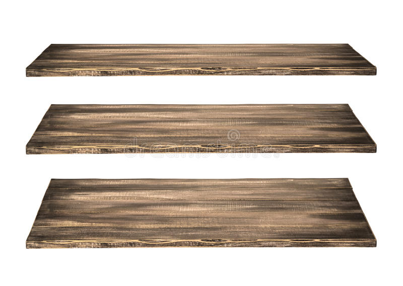 3 ξύλινος πίνακας ραφιών στοκ εικόνα