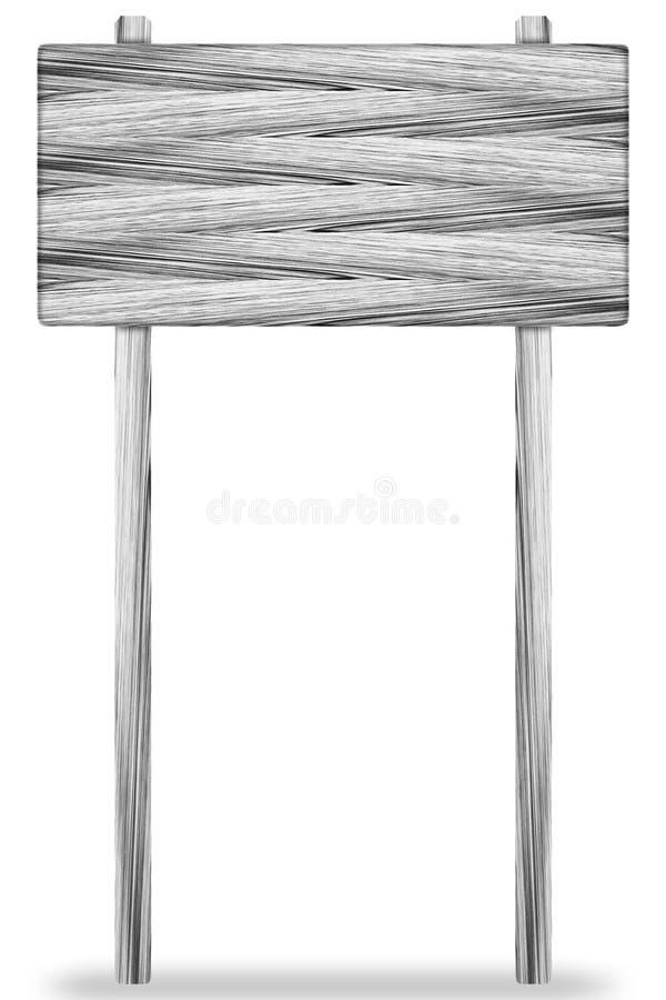 Ξύλινος πίνακας σημαδιών που απομονώνεται στο λευκό στοκ εικόνες