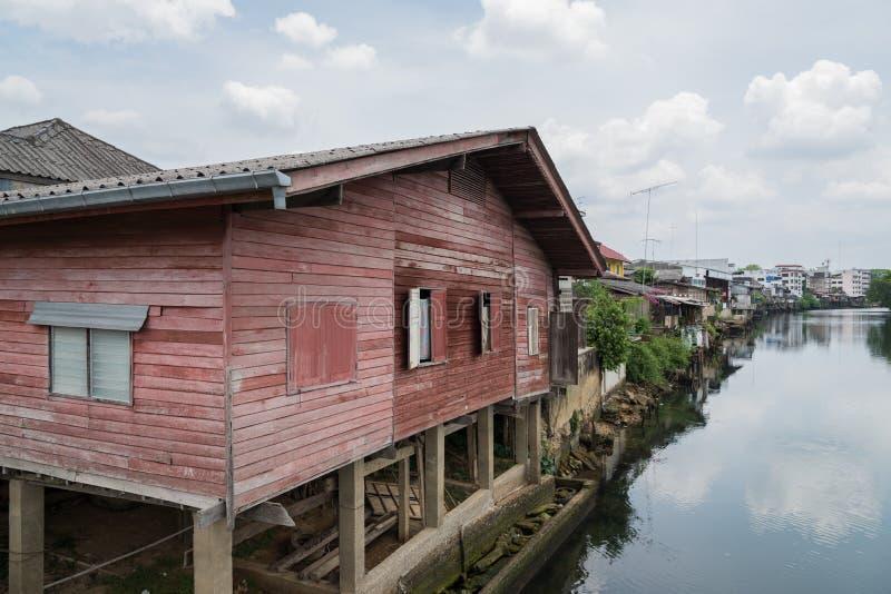 Ξύλινος παλαιός σπιτιών στοκ εικόνα