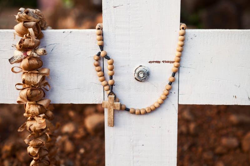 Ξύλινος σοβαρός σταυρός στοκ φωτογραφίες