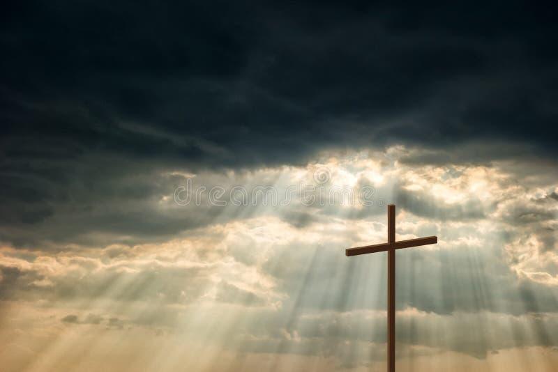 Ξύλινος σταυρός στοκ φωτογραφία με δικαίωμα ελεύθερης χρήσης