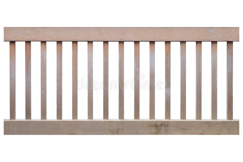 Ξύλινος φράκτης που απομονώνεται στο άσπρο υπόβαθρο στοκ φωτογραφία