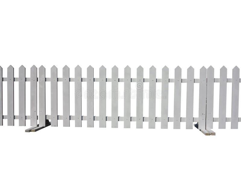 Ξύλινος φράκτης στο αγρόκτημα που απομονώνεται στο άσπρο υπόβαθρο στοκ φωτογραφία με δικαίωμα ελεύθερης χρήσης