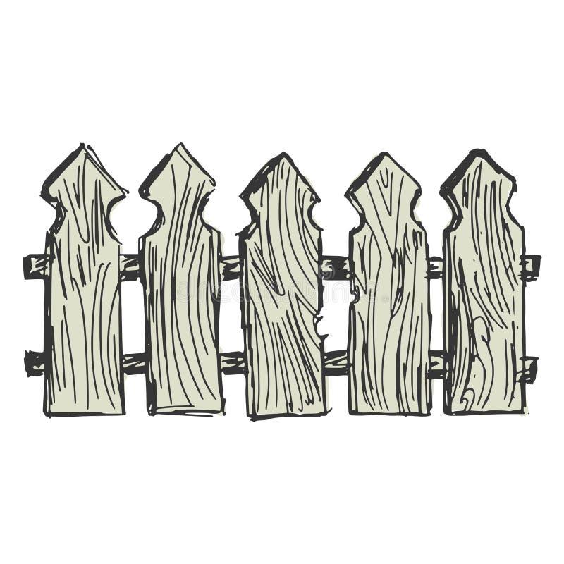 Ξύλινος φράκτης απεικόνιση αποθεμάτων