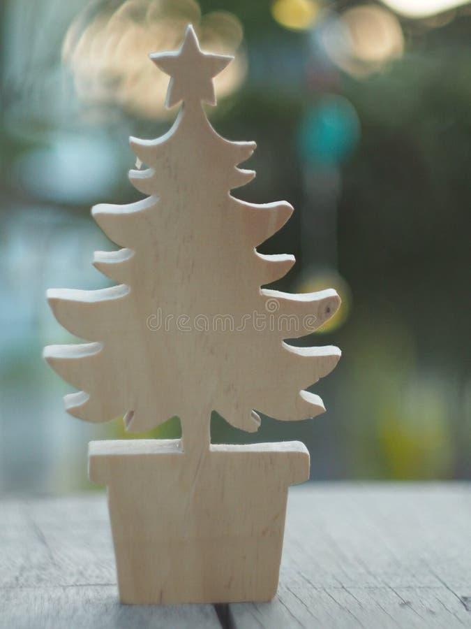 Ξύλινο δέντρο chirstmas στοκ εικόνες