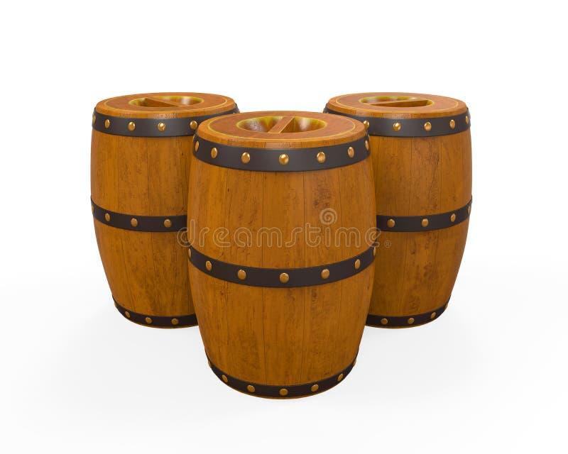 Ξύλινο βαρέλι μπύρας ελεύθερη απεικόνιση δικαιώματος