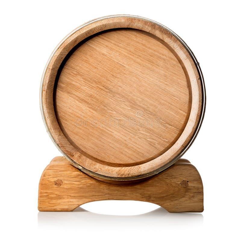 Ξύλινο βαρέλι στη στάση στοκ εικόνα με δικαίωμα ελεύθερης χρήσης