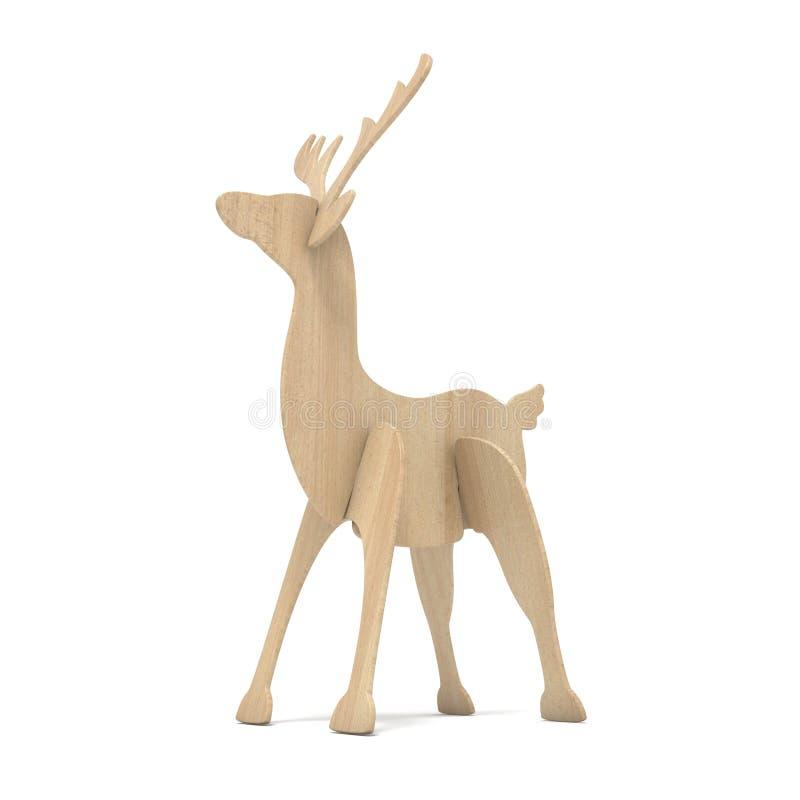 Ξύλινο ειδώλιο ταράνδων τρισδιάστατος απεικόνιση αποθεμάτων
