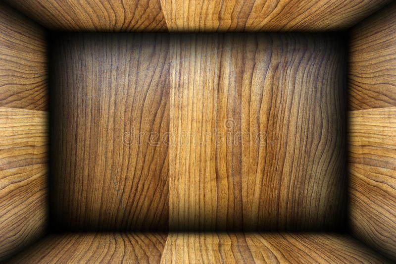 Ξύλινο εσωτερικό κιβωτίων στοκ εικόνες με δικαίωμα ελεύθερης χρήσης