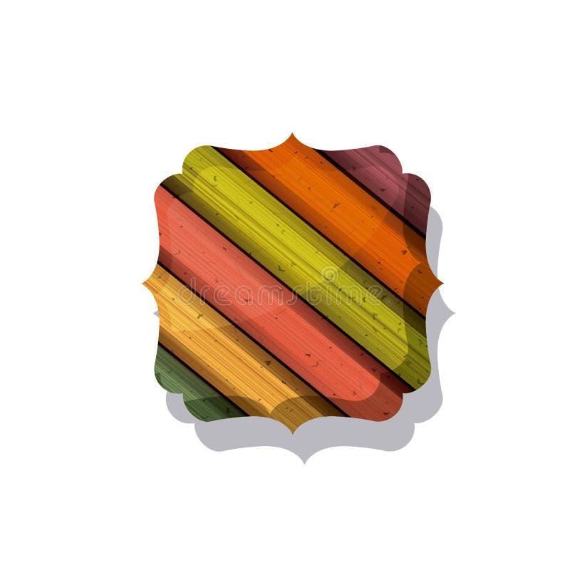 Ξύλινο και ριγωτό πολύχρωμο σχέδιο πλαισίων απεικόνιση αποθεμάτων