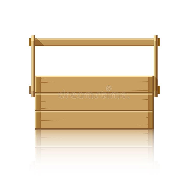 Ξύλινο κιβώτιο για τα εργαλεία διανυσματική απεικόνιση