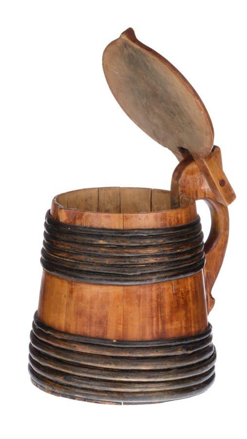 Ξύλινο μεγάλο κύπελλο με το καπάκι στοκ φωτογραφίες με δικαίωμα ελεύθερης χρήσης
