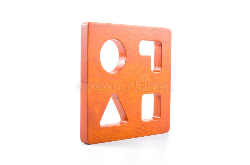 ξύλινο παιχνίδι διαλογέων μορφής φραγμών στοκ φωτογραφία