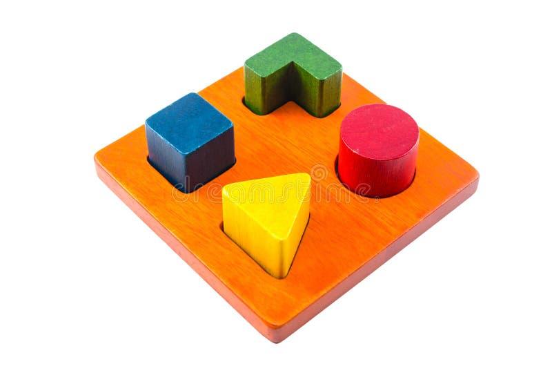 ξύλινο παιχνίδι διαλογέων μορφής φραγμών στοκ φωτογραφία με δικαίωμα ελεύθερης χρήσης