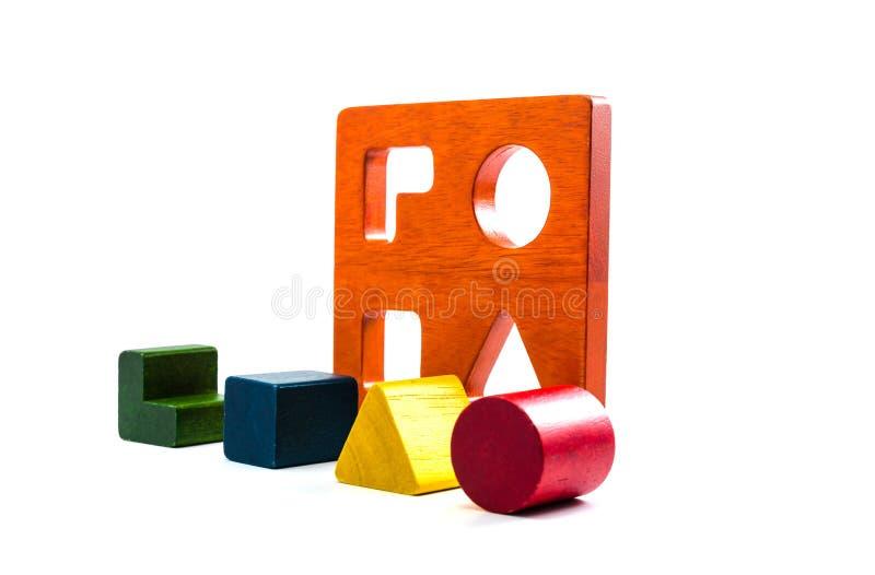 ξύλινο παιχνίδι διαλογέων μορφής φραγμών στοκ φωτογραφίες με δικαίωμα ελεύθερης χρήσης