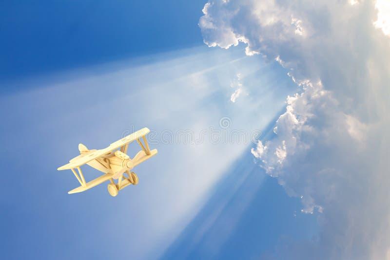 Ξύλινο πρότυπο αεροπλάνων στοκ εικόνες