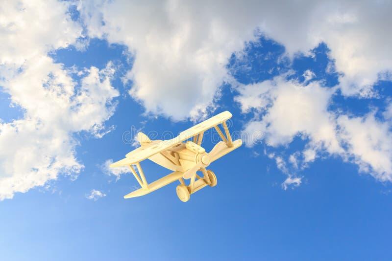 Ξύλινο πρότυπο αεροπλάνων στοκ εικόνες με δικαίωμα ελεύθερης χρήσης