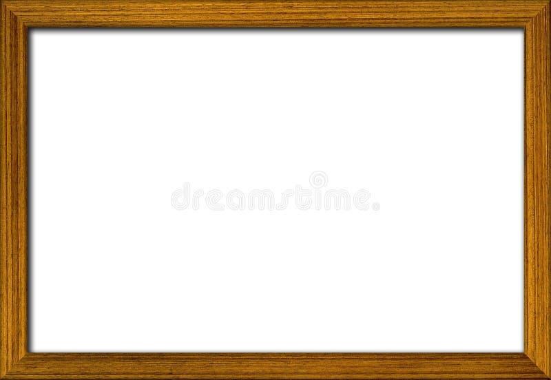 Ξύλινο πλαίσιο φωτογραφιών στοκ εικόνα με δικαίωμα ελεύθερης χρήσης