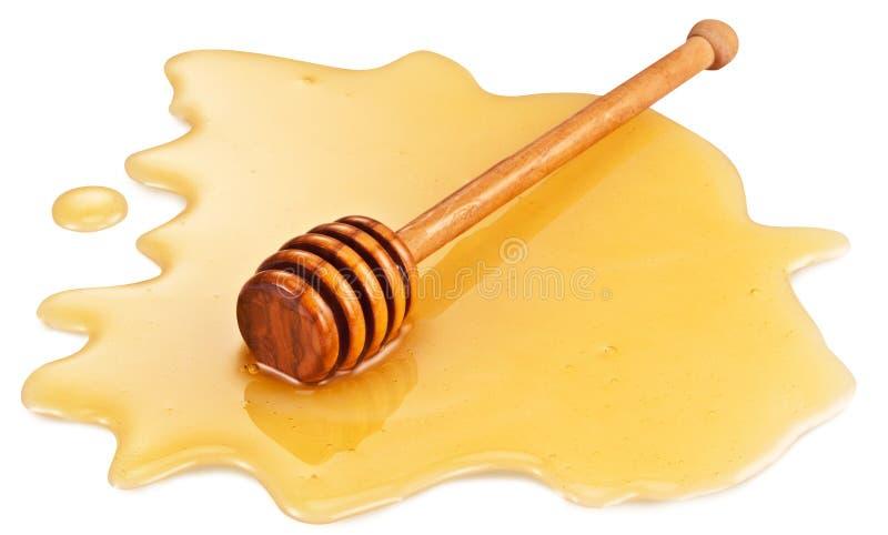 Ξύλινο ραβδί στη λακκούβα μελιού στοκ φωτογραφία με δικαίωμα ελεύθερης χρήσης