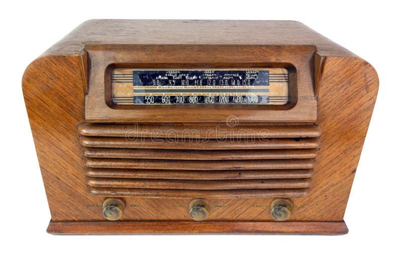 Ξύλινο ραδιόφωνο της δεκαετίας του '40 περίπτωσης εκλεκτής ποιότητας στοκ εικόνες