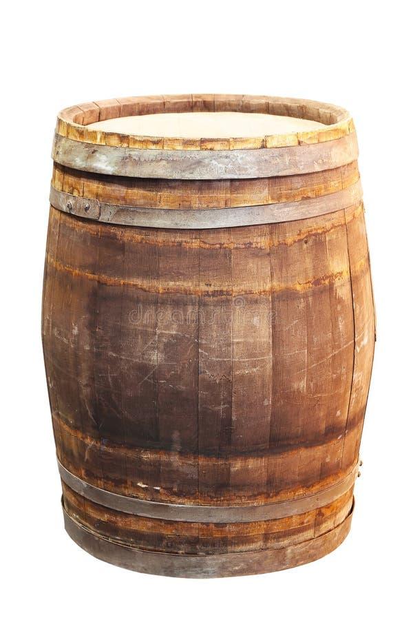 Ξύλινο δρύινο βαρέλι στοκ φωτογραφία