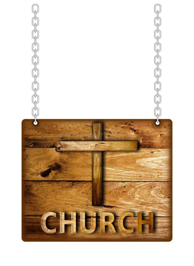 Ξύλινο σημάδι εκκλησιών στοκ φωτογραφία