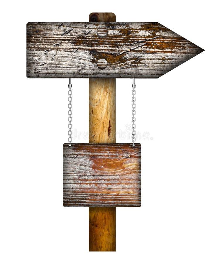 Ξύλινο σημάδι κατεύθυνσης στοκ εικόνες με δικαίωμα ελεύθερης χρήσης