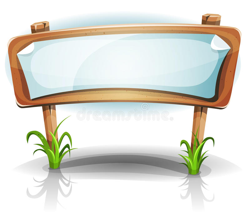 Ξύλινο σημάδι χώρας καλοκαιριού ή άνοιξης διανυσματική απεικόνιση