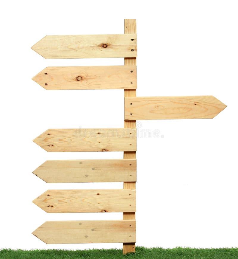 Ξύλινο σημάδι στοκ εικόνα