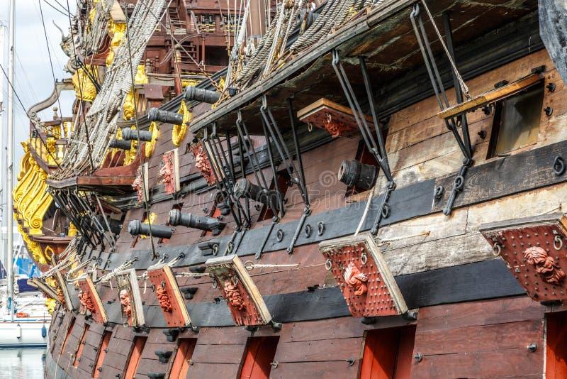Ξύλινο σκάφος πειρατών στη Γένοβα στοκ φωτογραφία με δικαίωμα ελεύθερης χρήσης