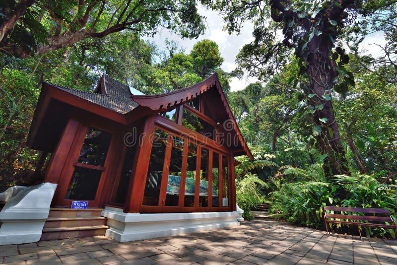 Ξύλινο σπίτι στη Royal Palace, Chiangmai στοκ φωτογραφία με δικαίωμα ελεύθερης χρήσης