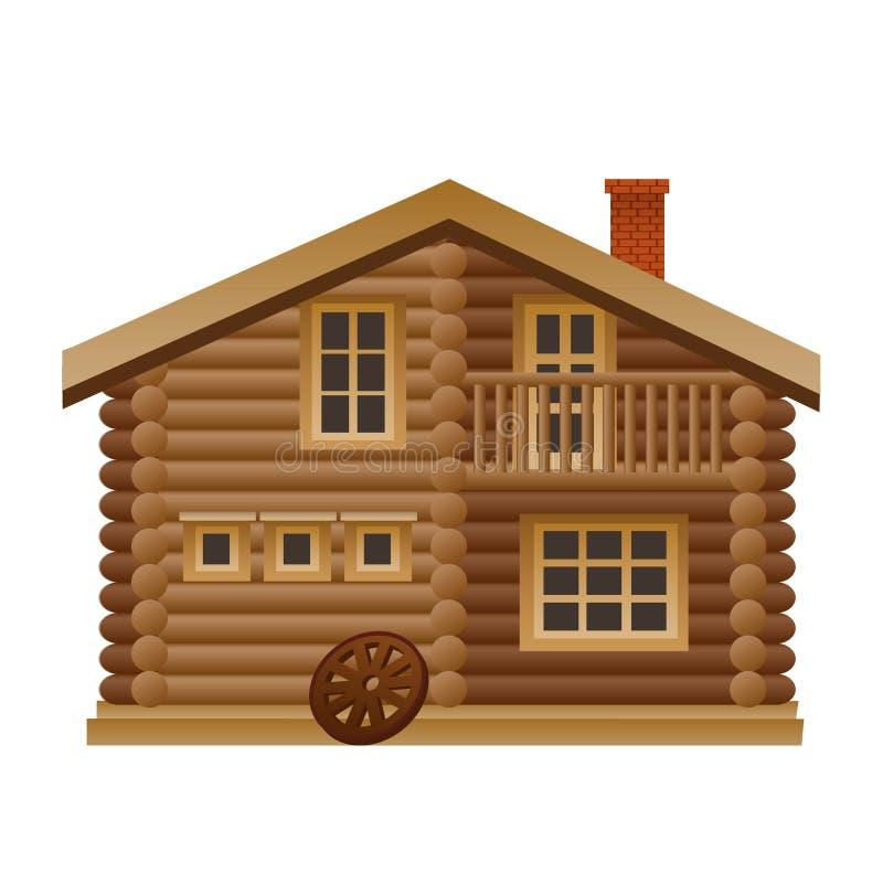 Ξύλινο σπίτι ελεύθερη απεικόνιση δικαιώματος