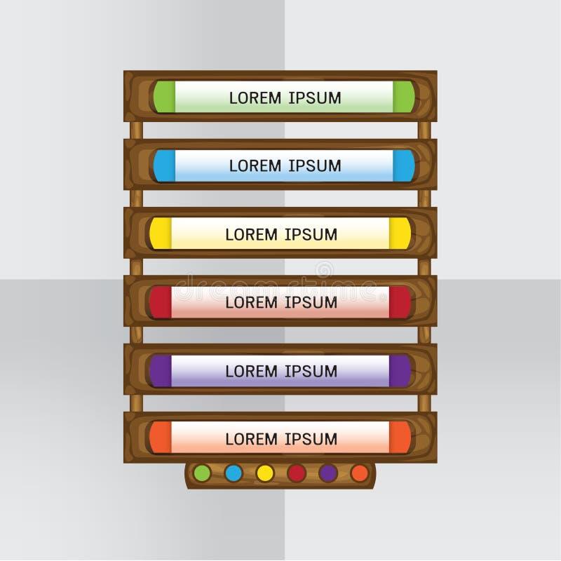 Ξύλινο στοιχείο σχεδίου απεικόνιση αποθεμάτων