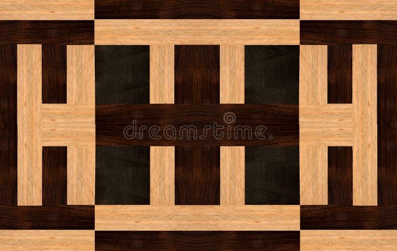 Ξύλινο σχέδιο με τη Ebony, Rosewood και Ramin στοκ εικόνες με δικαίωμα ελεύθερης χρήσης