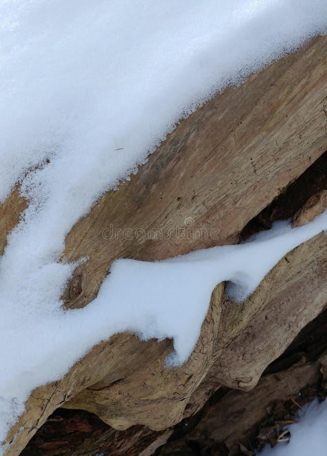 Ξύλινο σχέδιο χιονιού στοκ εικόνα με δικαίωμα ελεύθερης χρήσης