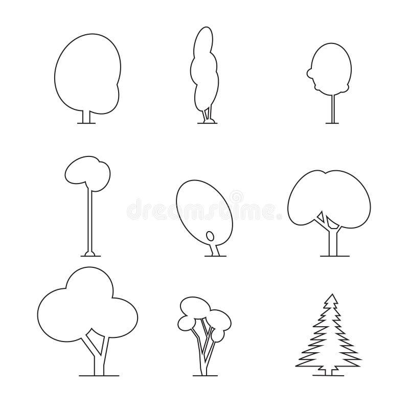 Ξύλινο σύνολο περιλήψεων απεικόνιση αποθεμάτων