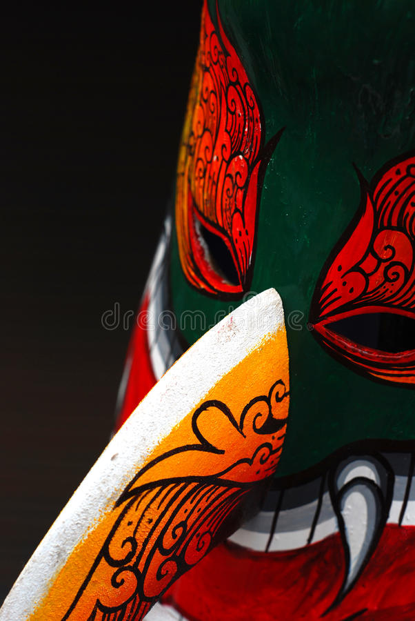 Ξύλινο φεστιβάλ μασκών στην Ταϊλάνδη στοκ φωτογραφίες με δικαίωμα ελεύθερης χρήσης
